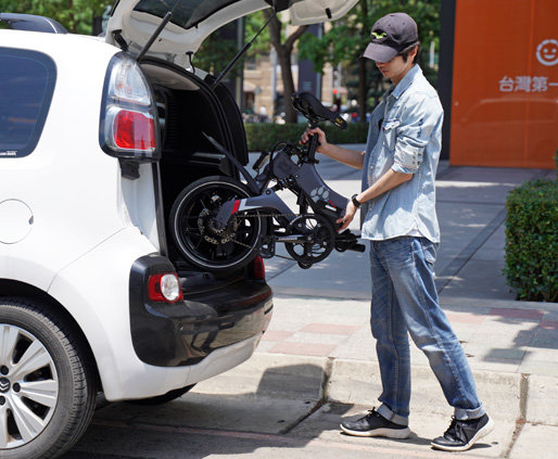 MaxWolf Hybrid 160電動摺疊自行車快速摺疊輕鬆放置汽車後車廂