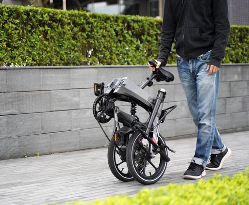 MaxWolf Hybrid 160電動摺疊自行車輕鬆摺疊方便推行