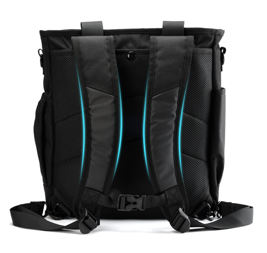 ENERMAX多功能都會生活背包雙肩受力均衡示意圖