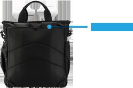 ENERMAX多功能都會生活背包背帶隱藏示意圖