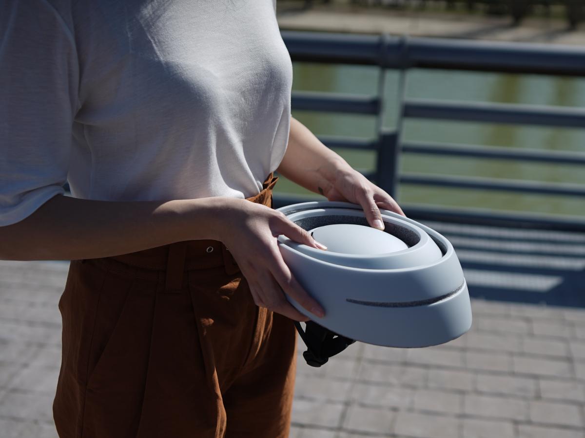 西班牙CLOSCA LOOP自行車摺疊安全帽快速摺疊收納