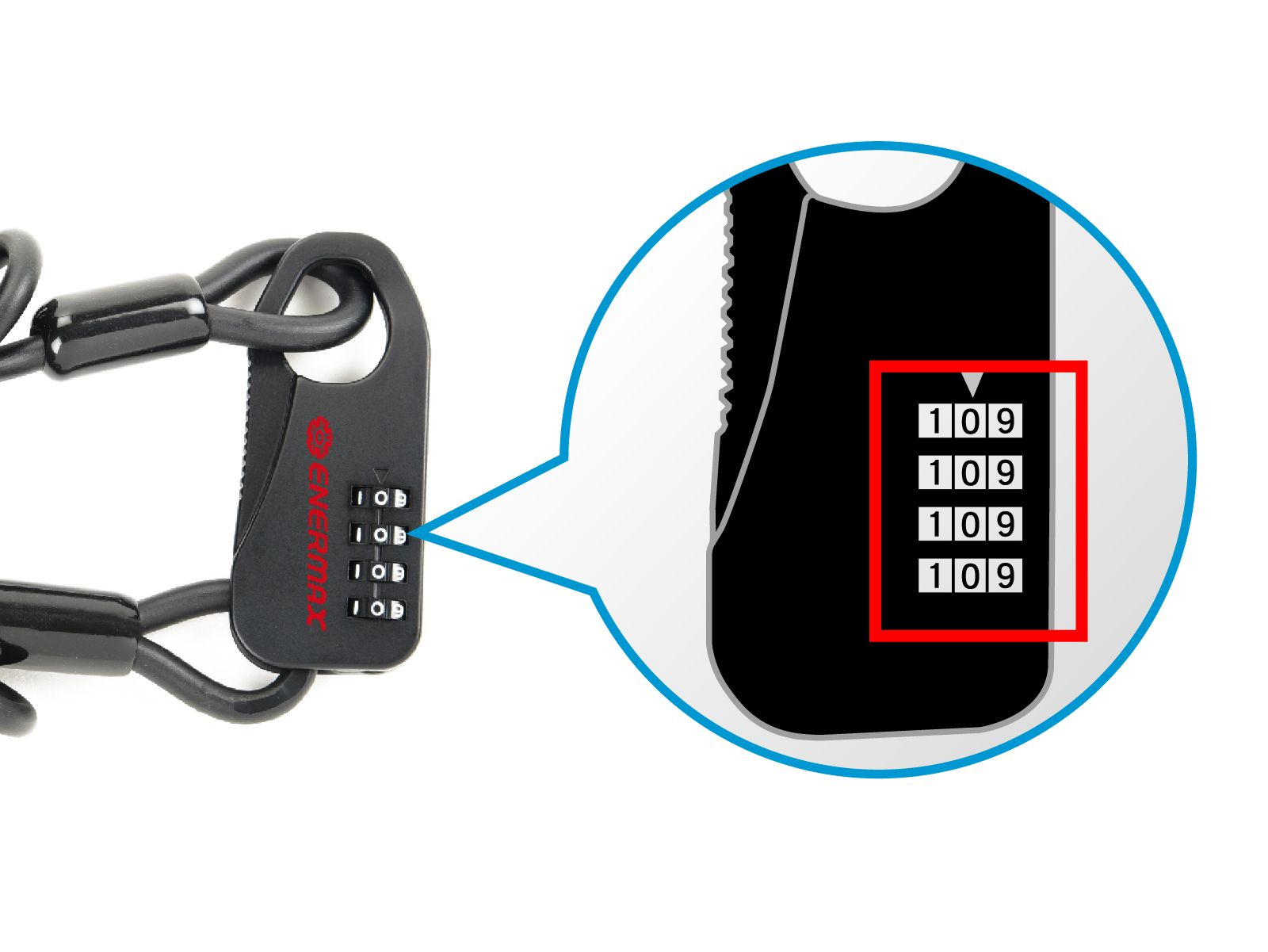 ENERMAX 自行車密碼鎖