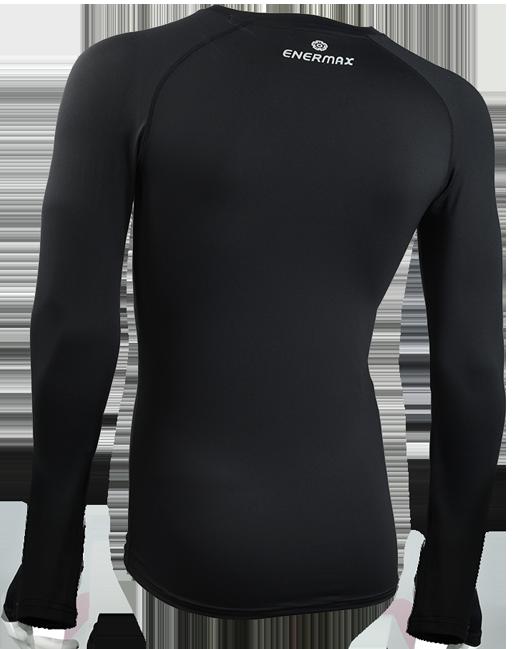 ENERMAX運動長袖內搭衣-男款(黑)