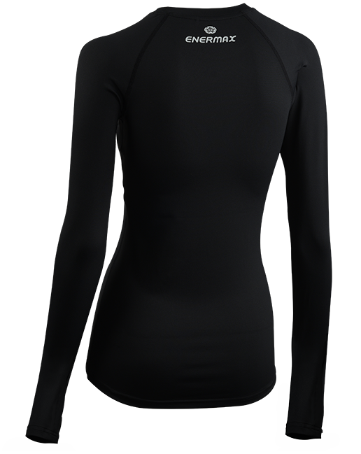 ENERMAX運動長袖內搭衣-女款(黑)